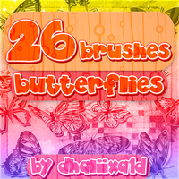 +26 Butterflies Brushes by Dhaliixa1D