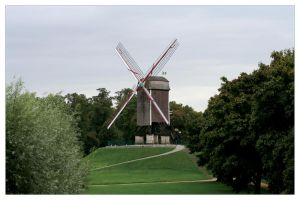 Bruges Windmill by Cre8ivMynd