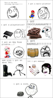 Christmas rage comic by Enophano