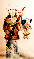 Law and Chopper One Piece by BushidoBegus
