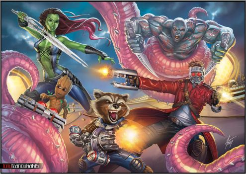 GUARDIANS OF THE GALAXY by tony-tzanoukakis