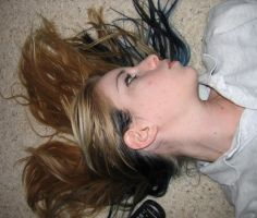 ..Floor Face Hair 1.. by Bloody-Kisses-STOCK