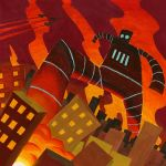 Attack of the Giant Robot by Phostex