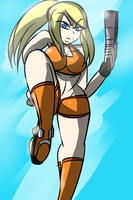 Short Samus by MegaGundamMan
