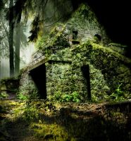 Ruin in forest1 by manilu