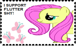 I Support Fluttershy Stamp by Teamscout11