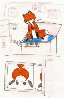 Stupid Fox - Office by ChibiNater