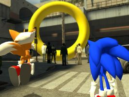 Sonic Is Freakin Rich by GlitchyProductions