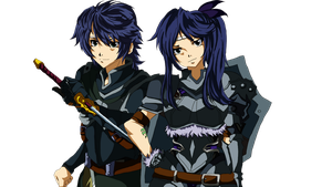 The  BLack Wing Twins ~ Fairy Tail OC by BrainburstYuuji