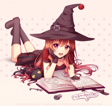 Commission - Smart witch by Hyanna-Natsu