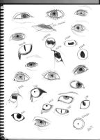 Animal and Human Eyes by RaiDoodles