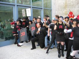 Fanime: Team Rocket swarm by Kara-tails