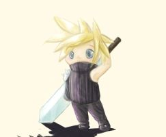 Cloud Strife Chibi by EleanorAnsell