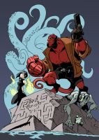 My name is Hellboy by NachoMon