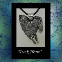 Punk Heart Pendant by KabiDesigns