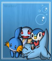 Water Pokemon by RapidPowerBlast