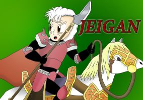 Jeigan,Guardian with bones of iron by jules1998