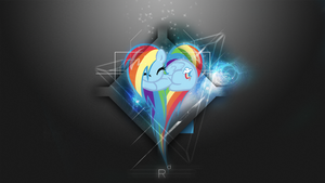 [Space Heart Series] - Rainbow Dash 1920x1080 by forgotten5p1rit