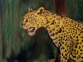 leopard in clearing oil painting by EpikAuRaJin