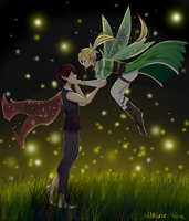 [Commission] Fireflies by Athena-Rose
