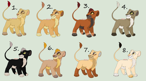 Cub Adoptable Batch Closed by Sukida-Adopts