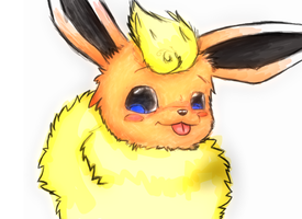 A flareon! by TheSadLonelyFox