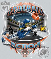 FOOTBALL ACTION by BROWN73