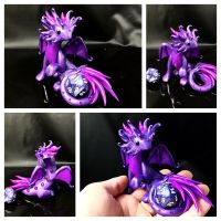 Purple Gem Dice Guardian by LittleCLUUs