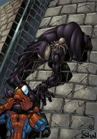 venom vs spidey color collabp by shalomone