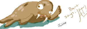 Bert The Retarded Walrus by jutto