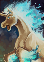 Shiny Rapidash by SpaceSmilodon