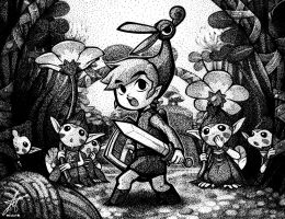 Zelda - Minish Cap Stipple by david-ng