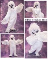 White Silkie Chiken by LilleahWest