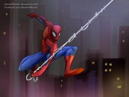 Night Patrol Spidey by SteveMillersArt