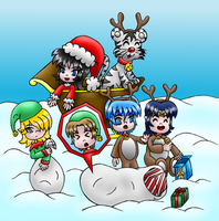 Ronin Warriors Christmas colored by MikariStar