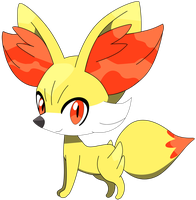 My first vector of Fennekin. by Flutterflyraptor