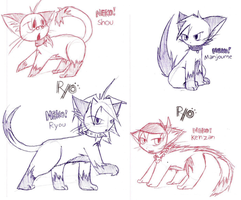 More GX Kittays :3 by ryokage
