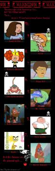 My Top 10 Hated Characters by Spuriousones13