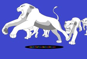 Lion King Base: 19 by LineArtForFree