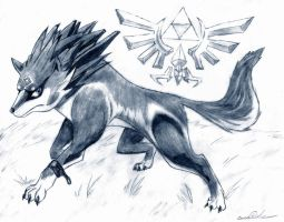 Wolf Link - Sketch by Seanx666
