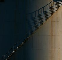stairway at sunset by MarcCopeland