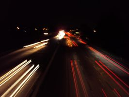 Freeway Nighttime Blaze by ryuh190