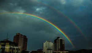 Rainbows in the city by HenriqueAMagioli