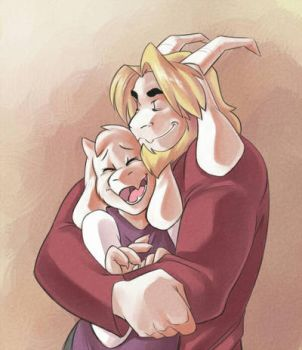 Asgore and Toriel by JLavisant