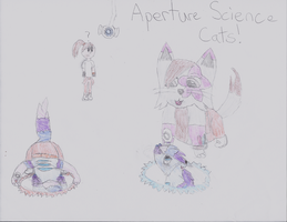 Aperture Science Cats Time! by alpha-centaurius