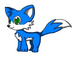 Little Blue Fox by supertailsfan