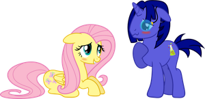 Hovis and Fluttershy by ShadyHorseman
