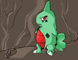 Larvitar's Cave by WolveForger