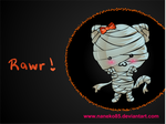 Mummy Cat Wallpaper by nanecakes