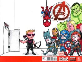 Avengers #1 my variant sketch cover by brodiehbrockie